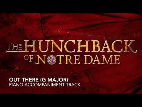 Out There (G Major) - The Hunchback of Notre Dame - Piano Accompaniment/Karaoke Track