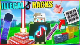 Minecraft EPIC Tiktok hacks and glitches 🔥