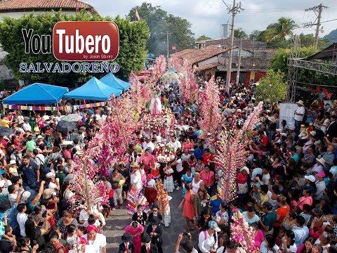 Feria cultural de flores y palmas Panchimalco San Salvador como se hacen las palmas parte 1 YS SVL