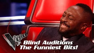 The Funniest Bits From The Blind Auditions! | The Voice UK 2019