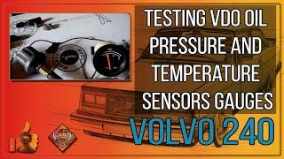 Проверка на работоспособность датчиков давления и температуры масла VDO