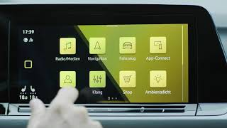 The new Volkswagen Golf 8 - Infotainment System