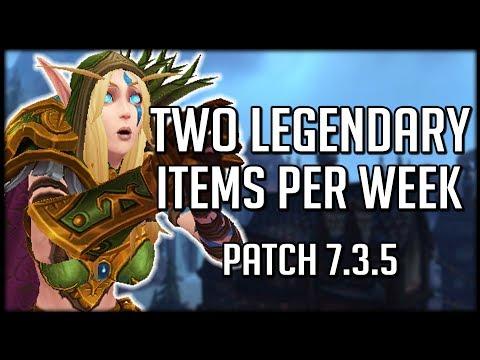 FASTEST WAY TO GET LEGENDARIES - Two Per Week! Patch 7.3.5 | World of Warcraft Legion