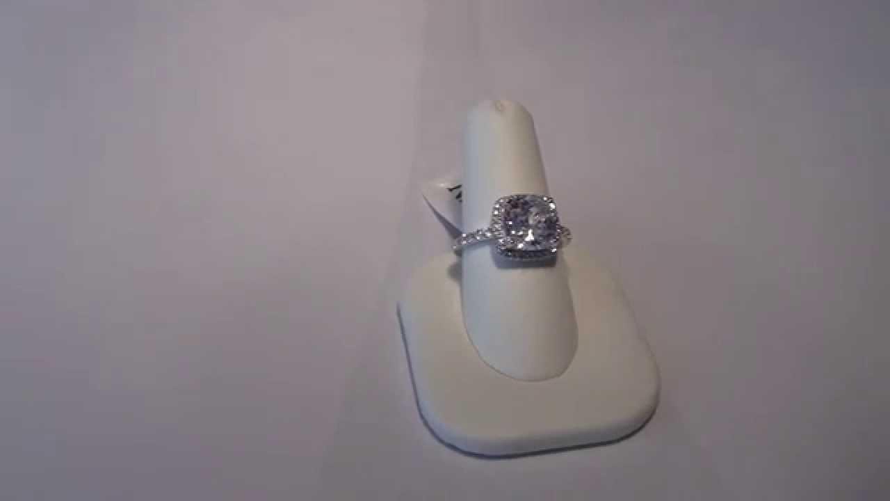3ct Nscd Sona Diamond Vvs1 Gh Cushion Cut Engagement Bridal Ring
