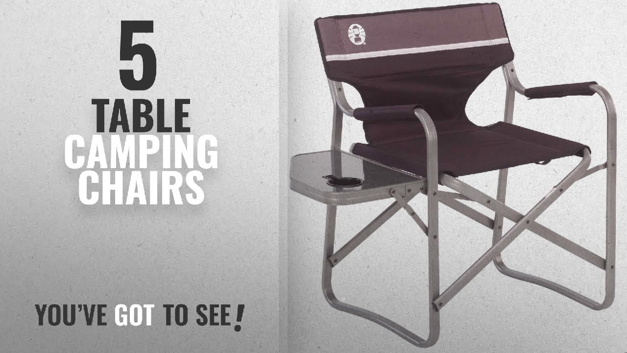 Folding Camp Chair With Side Table Top 5 Table Camping Chairs 2018 Coleman Portable Deck Chair With Side Table