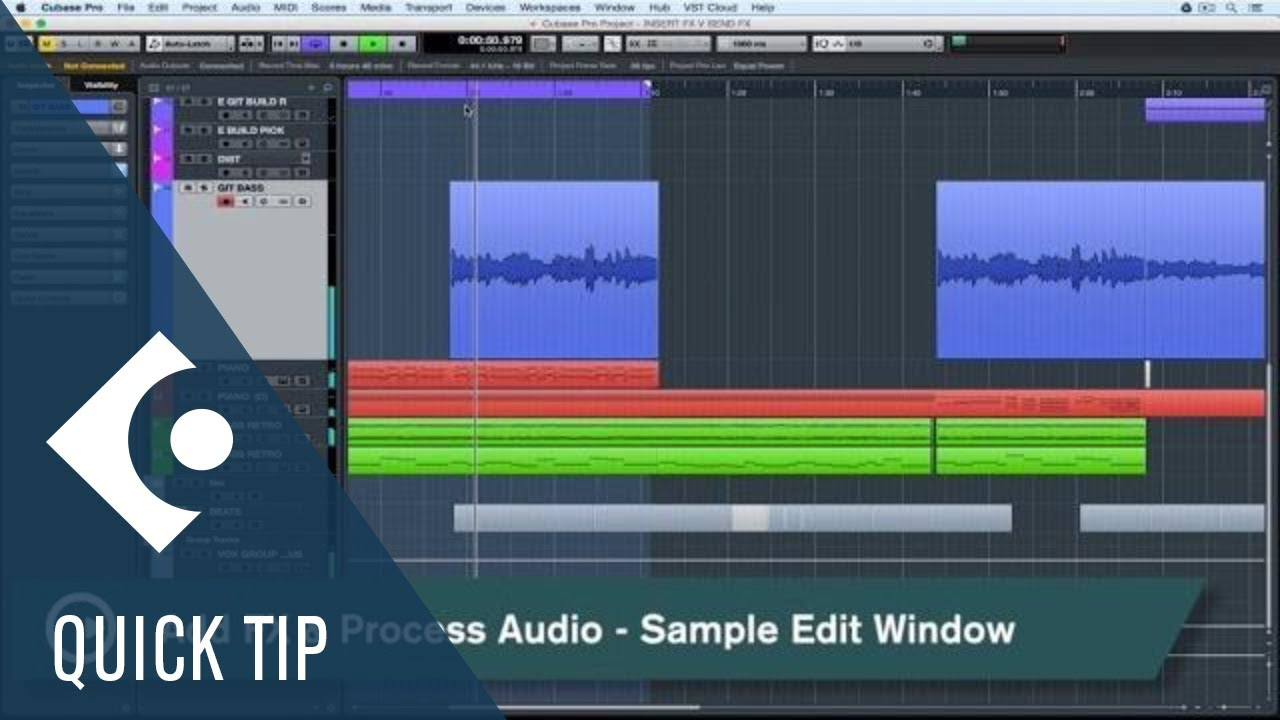 Process Audio in Sample Editor | Cubase Quick Tips - YouTube