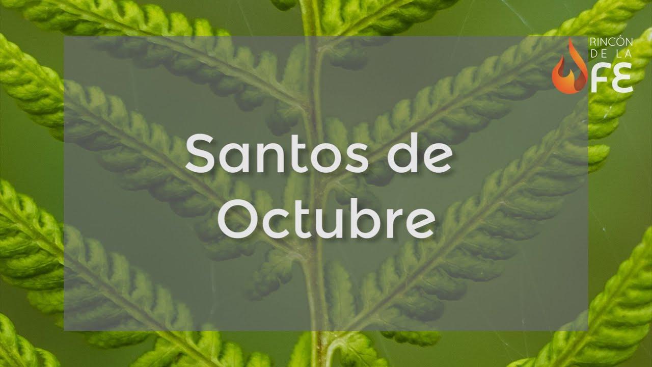 Calendario Santoral.Santoral De Octubre Calendario Santoral Catolico