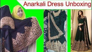 Anarkali Dress Unboxing   Anarkali Suit With Heavy Embroidery Work   Party Wear Anarkali Dress