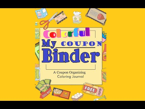 COLORFUL 50-Page Coupon Binder Printable Pages