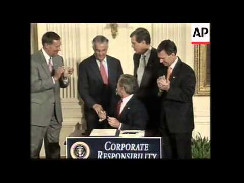 WRAP Bush signs corporations law, latest on scandals