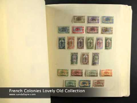 France and Colonies - Lovely Old Stamp Collection in an old Rapkin album