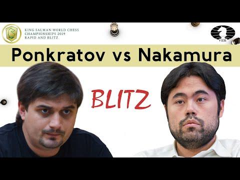 Hikaru does not forgive blunders! | Ponkratov vs Nakamura | World Blitz Championship 2019 |
