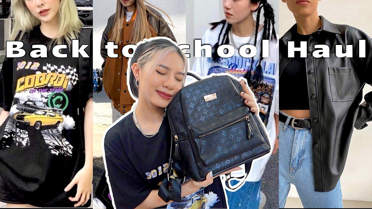 Shopee Haul | 11 Items siêu xịn mặc đi học (Áo phông, jacket, túi,...) | Sweetpea🌙