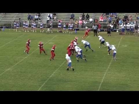 Middle school QB ninjas his way out of a sack and then launches a bomb