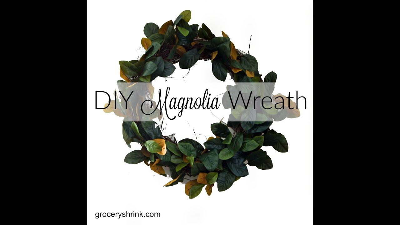 Best DIY Magnolia Wreath - YouTube JB77