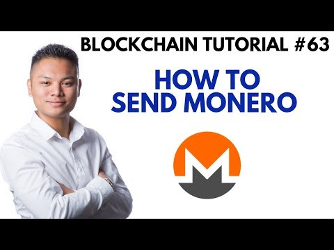 Blockchain Tutorial #63 - How To Send Monero Wallet