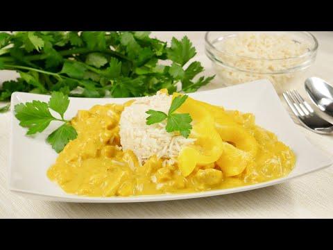 Hähnchengeschnetzeltes mit Curry-Sahne-Soße