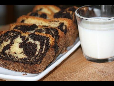recette-gâteau-marbré-facile-et-moelleux---moist-marble-cake-recipe---recettes-maroc