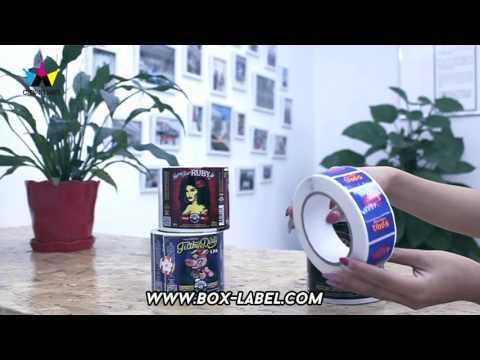 Custom Print Adhesive Waterproof Roll Bottle Label Sticker