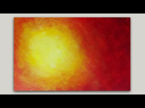 Hot Sun Acrylic Painting Background Time Lapse painting
