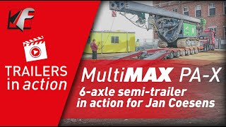 FAYMONVILLE MultiMAX PA-X: 6-axle semi-trailer in action for Jan Coesens