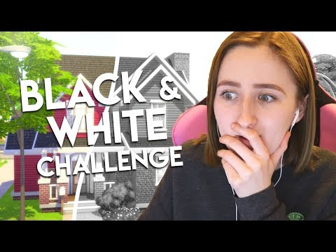BLACK & WHITE BUILD CHALLENGE // The Sims 4: House Building thumbnail