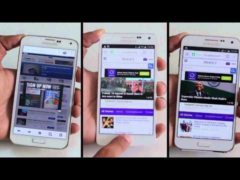 Samsung Galaxy A5 vs Galaxy E5 vs Galaxy S5 Speed Test