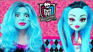 Costume Monster High & Kids Draculaura  Makeup Play with DOLL & Real Princess Dresses