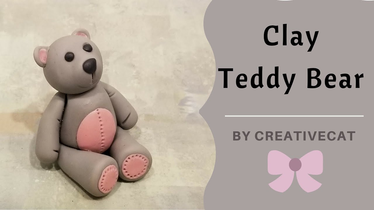 Airdry clay teddy bear figurinecold porcelain clay teddy bear youtube airdry clay teddy bear figurinecold porcelain clay teddy bear altavistaventures Images
