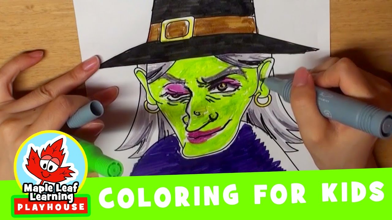 Halloween Coloring Pages for Kids | Maple Leaf Learning Playhouse ...