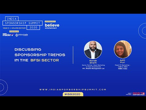 Sponsorship Trends in the BFSI Sector - India Sponsorship Summit 2020