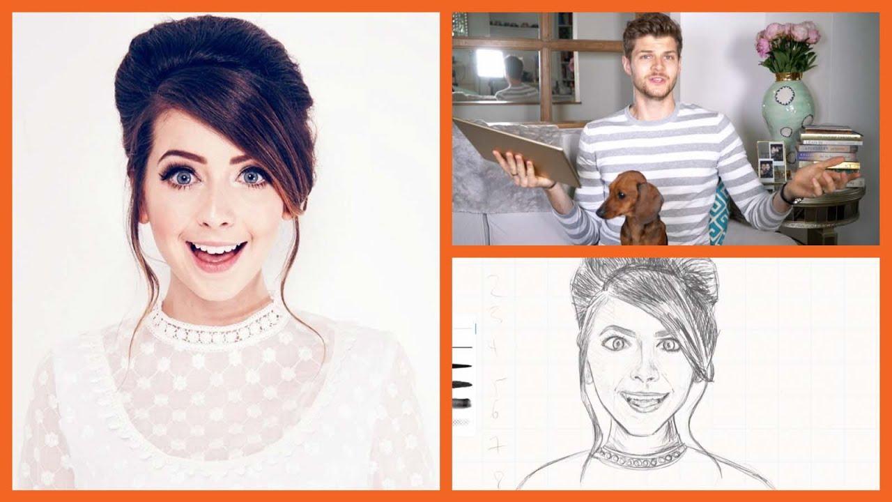 Drawing Zoella Drawingwithjim Youtube