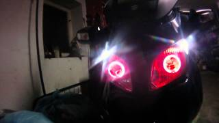 Burgman 650 + HID Xenon Angel Eye + Red Eye Devil