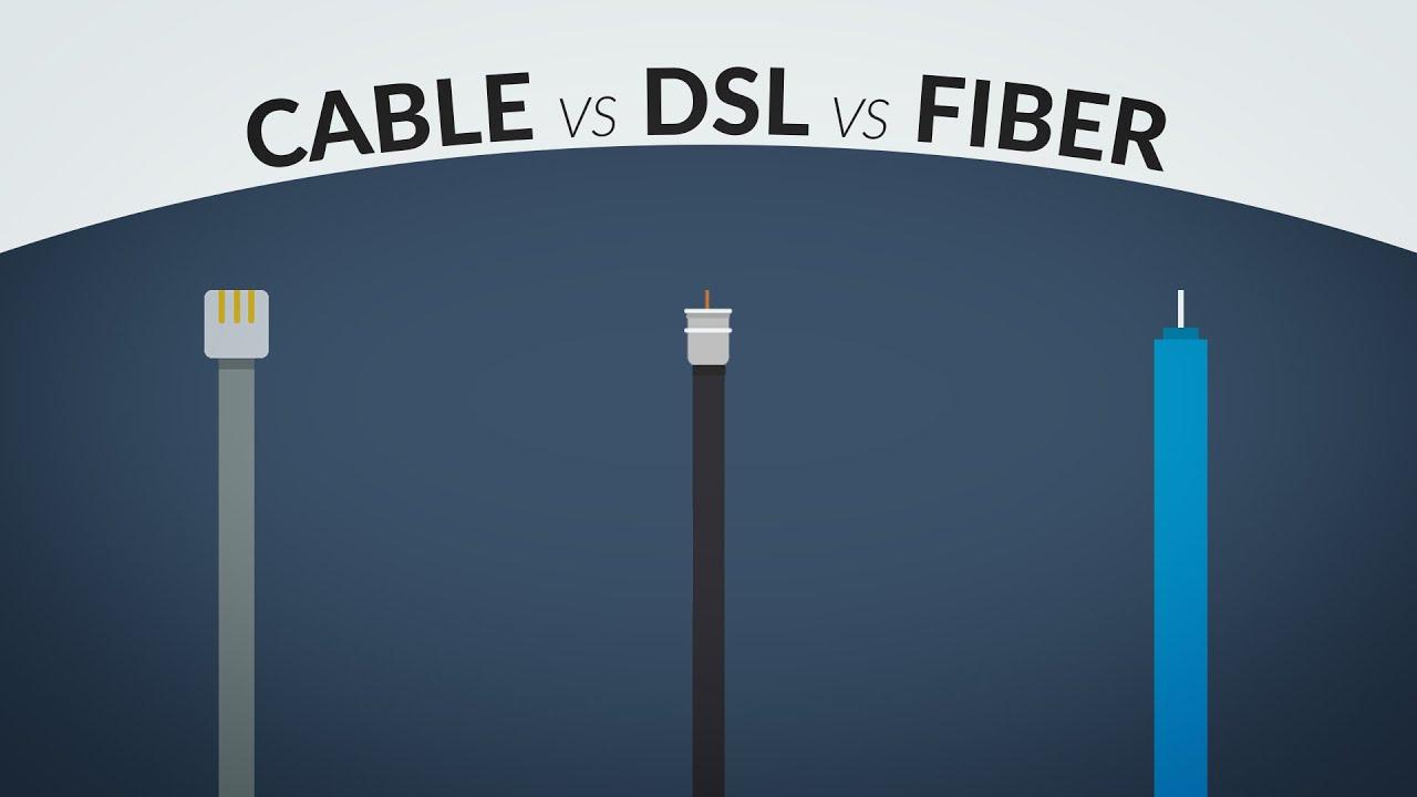 cable vs dsl vs fiber internet [ 1280 x 720 Pixel ]