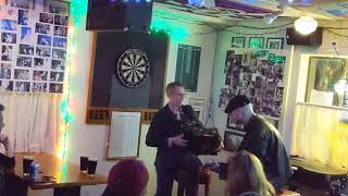Matt Hensley & Dennis Casey after Flogging Molly concert live pub set at Poet & Patriot Santa Cruz 3