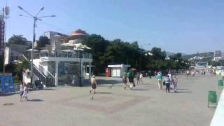 Безлюдный Крым 08,06,14 Алушта, набережная часть1(, 2014-06-09T20:24:36.000Z)