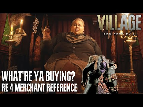 "RESIDENT EVIL VILLAGE - ""What're ya buyin?"" RE4 Merchant Reference (The Duke's Emporium)"