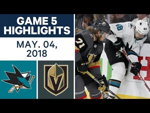 NHL Highlights | Sharks vs. Golden Knights, Game 5 - May 04, 2018
