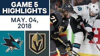 NHL Highlights | Sharks vs. Golden Knights, Game 5 - May 04, 2018