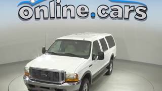 A99603GP Used 2001 Ford Excursion Limited 4WD White SUV Test Drive, Review, For Sale