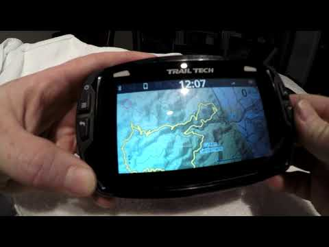 Trail Tech Voyager Pro - Showing The Various Menu's