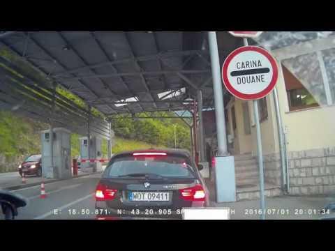 Sarajevo (BIH) - Ulcinj (MNE) road M18 (E762) - M2(E80) - M2.4(E851)