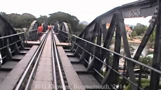 Kanchanaburi, and the River Kwai Bridge, and station, Thailand. ( 13 )