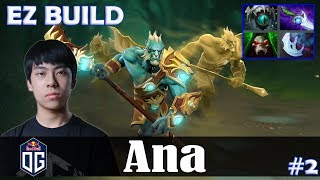 Ana - Phantom Lancer Safelane | EZ BUILD | Dota 2 Pro MMR Gameplay #2