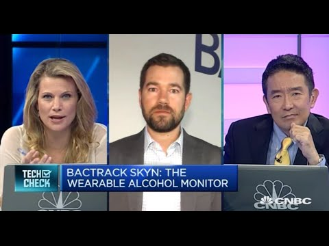 BACtrack Skyn™ Wearable Alcohol Monitor | CNBC Interviews BACtrack CEO Keith Nothacker