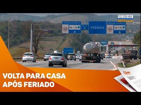 Tráfego pesado na volta para casa após feriado - TV SOROCABA/SBT