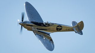 Restored Silver Spitfire sets off on a round-the-globe trip in a world first attempt