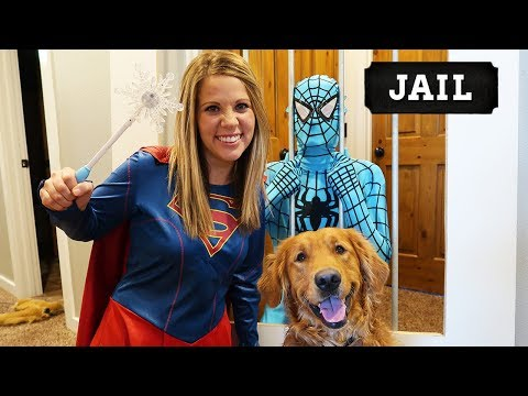 Super Girl SAVES Earl From Blue Spiderman!