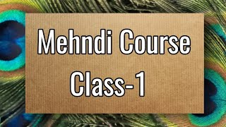 Mehndi Class-1 /how to learn Mehndi for beginners/line practice/mehndi class/Mehndi course/Mehndi