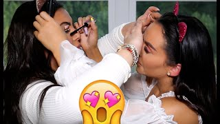 DOING EACH OTHERS MAKEUP @ THE SAME TIME W/ HRUSH